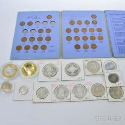 Group of Assorted Foreign Coins and Silver Rounds