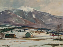Aldro Thompson Hibbard (American, 1886-1972)      Winter, Mt. Mansfield and West River Valley, Vermont