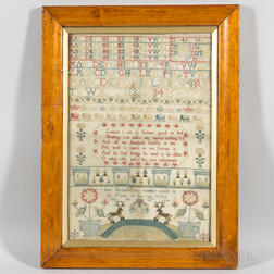"Needlework Sampler ""Jane Nickolls,"""