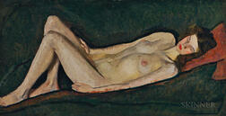William Auerbach-Levy (Russian/American, 1889-1964)      Nude on Green