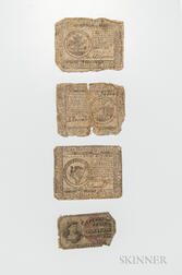 Three Pieces of Continental Currency