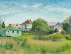 Lennart Anderson (American, 1928-2015)      Houses at South Harpswell