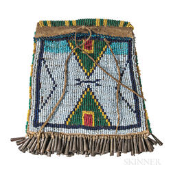 Central Plains Beaded Hide Bag