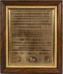"Needlework Sampler ""Alice Smith,"""