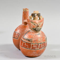 Pre-Columbian Polychrome Whistling Vessel
