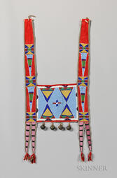 Crow Beaded Buffalo Hide Martingale