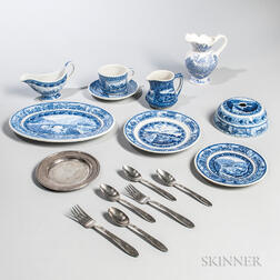 Group of Pullman Car China and Flatware