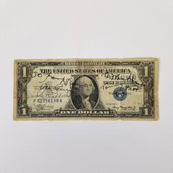 Autographed 1935A $1 Silver Certificate