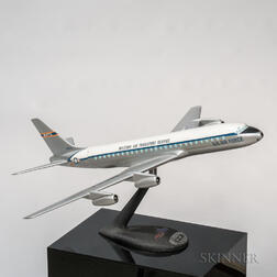 Douglas DC-8F Military Air Transport Service Aviation Display Model with Display Plinth