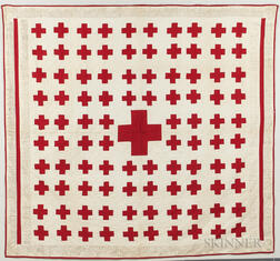 "Red Cross ""Penny"" Fundraising Quilt"