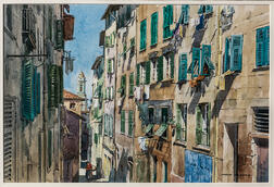 James Kramer (American, b. 1927)      Street in Old Nice