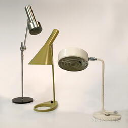"Arne Jacobsen ""AJ"" for Louis Poulsen, Atelje Lyktan for Ahus, and a Steel Desk Lamp"