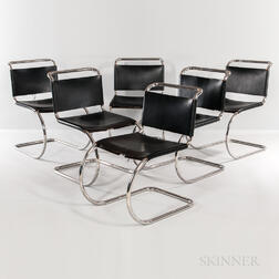 Six Mies van der Rohe for Knoll International MR533 Chairs