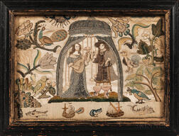 Needlework Picture of Lovers