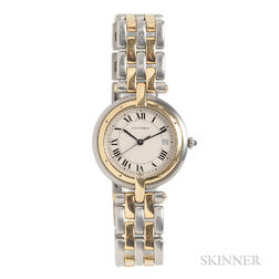 Lady's Gold and Stainless Steel Wristwatch, Cartier