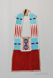 Crow/Ute Beaded Buffalo Hide Bandolier Bag