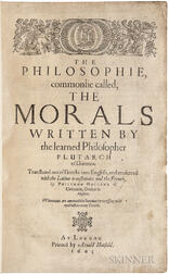 Plutarch (45-127 AD); trans. Philemon Holland (1552-1637) The Philosophie, Commonlie Called the Morals.