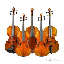 Three Violas and Two Seven-eighth Size Violins
