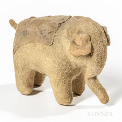 Large Greiner Doll and Stuffed Toy Elephant