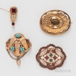 Four Victorian Brooches