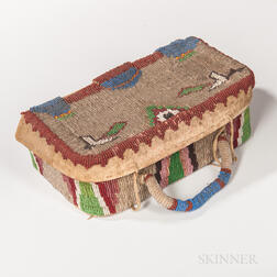 Plains Beaded Hide Sewing Box