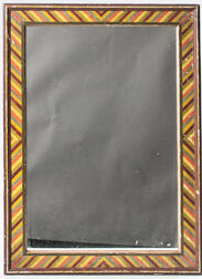 Mirror with Paint-decorated Frame
