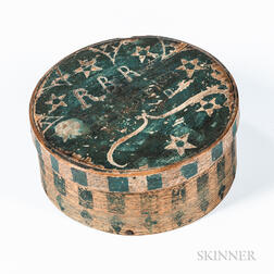 Carved and Blue-painted Pantry Box