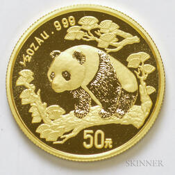 1997 Chinese 50 Yuan Large Date Gold Panda.