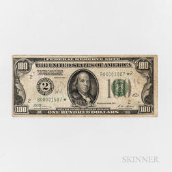 1928 $100 Federal Reserve Star Note, Fr. 2150-B*