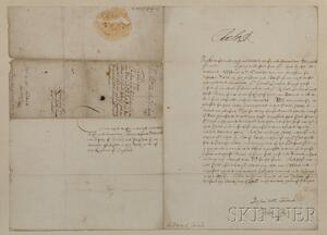 Charles I of England (1600-1649) Document Signed, 7 April 1636.