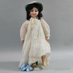 Large Bisque Head Doll Marked DEP