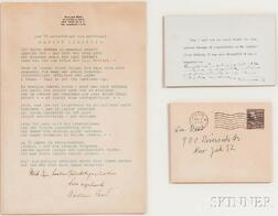 Einstein, Albert (1879-1955) Printed Note with Signed Manuscript Postscript, 1 April 1954.