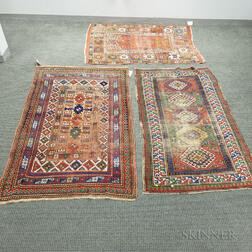 Two Kazak Rugs and a Central Anatolian Prayer Rug
