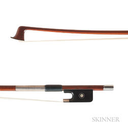 French Silver-mounted Violin Bow, Émile Auguste Ouchard