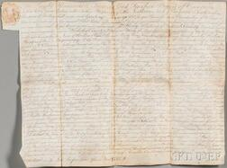 Fairfax, Thomas, 6th Lord Fairfax of Cameron (1693-1781) Signed Land Deed, November 22, 1775.