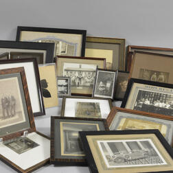 American School, 19th/20th Century      Twenty Framed Photographs of Individuals and Groups