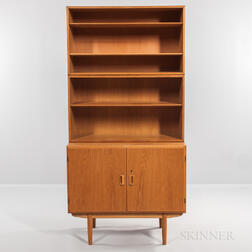 Borge Mogensen for Soborg Mobler Double Door Cabinet and Two Oak Bookcases