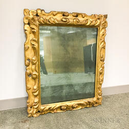 Baroque-style Carved Gilt-gesso Mirror