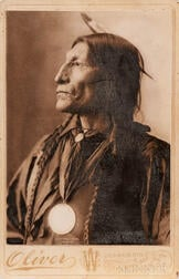 Cabinet Card Photograph of Chief Wolf Robe
