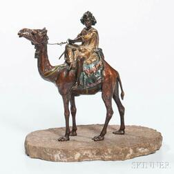 Franz Bergman Cold-painted Bronze Rider on Camel