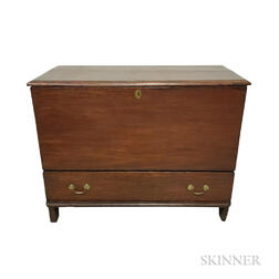 Country Red-painted Pine One-drawer Blanket Chest