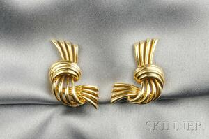 14kt Gold Earclips, McTeigue