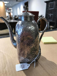 Chinese Export Silver Coffeepot
