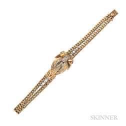 18kt Gold and Diamond Wristwatch, Rolex