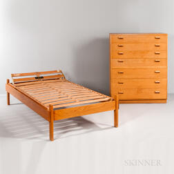 Borge Mogensen for Soborg Mobler Oak Dresser and Bed