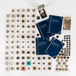 Group of American Coins, Currency, and Tokens