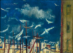 Joseph Floch (American/Austrian, 1894-1977)      Masts and Gulls