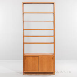 Borge Mogensen for Karl Andersson & Soner Oak Low Bookcase and an Oak Bookcase with Sliding Door Cabinet