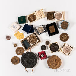 Large Group of Medals and Tokens