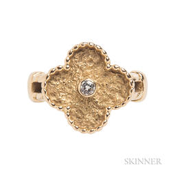 "18kt Gold and Diamond ""Alhambra"" Ring, Van Cleef & Arpels"